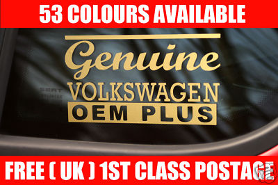 2x autocollant genuine volkswagen eom plus or vinyl pour. Black Bedroom Furniture Sets. Home Design Ideas