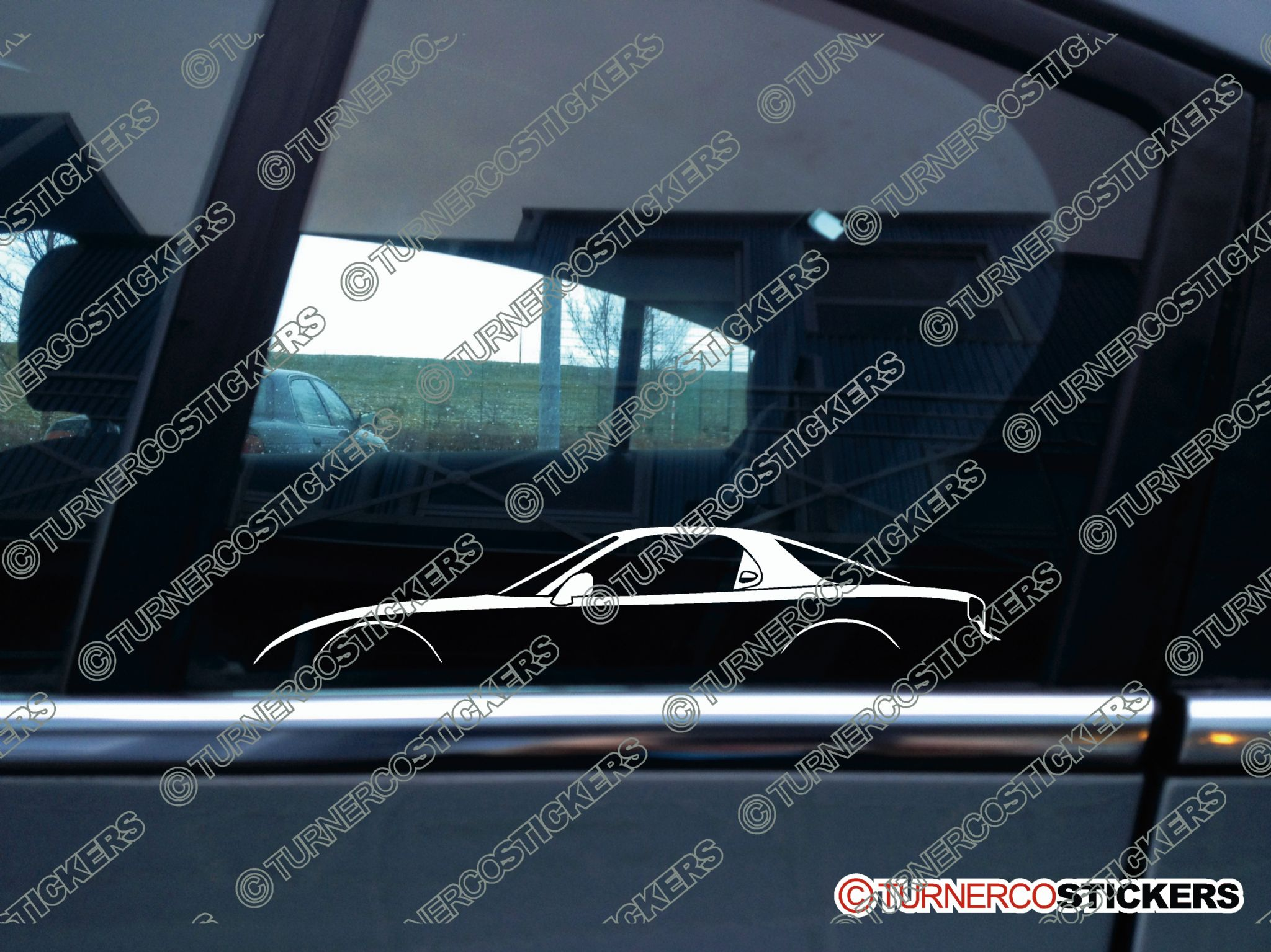 2x Car Silhouette Sticker   Mazda RX7, FD Twin Turbo 3rd Generation (NO Rear