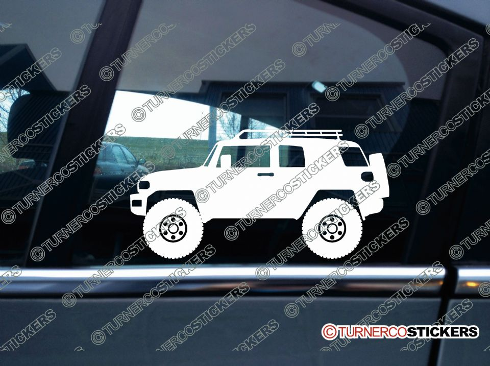 Fj Cruiser Sticker >> 2x Lifted Toyota Fj Cruiser Offroad 4x4 Silhouette Stickers
