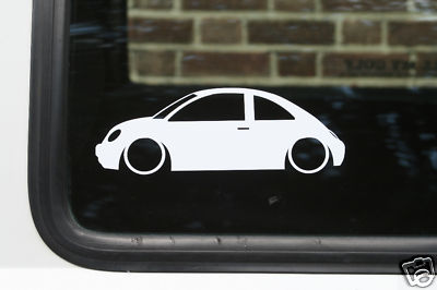 2x LOW New beetle outline stickers decals for beetle 1.8t RSi TDi v5