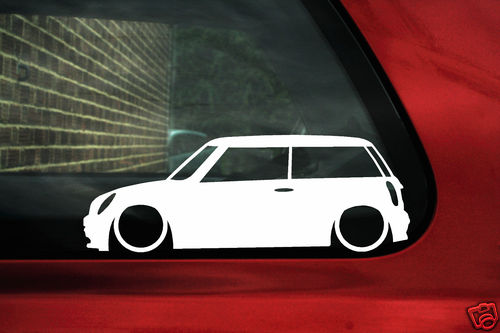 X LOW New BMW Mini Cooper S R Works One Outline Car Silhouette - Bmw mini cooper decals