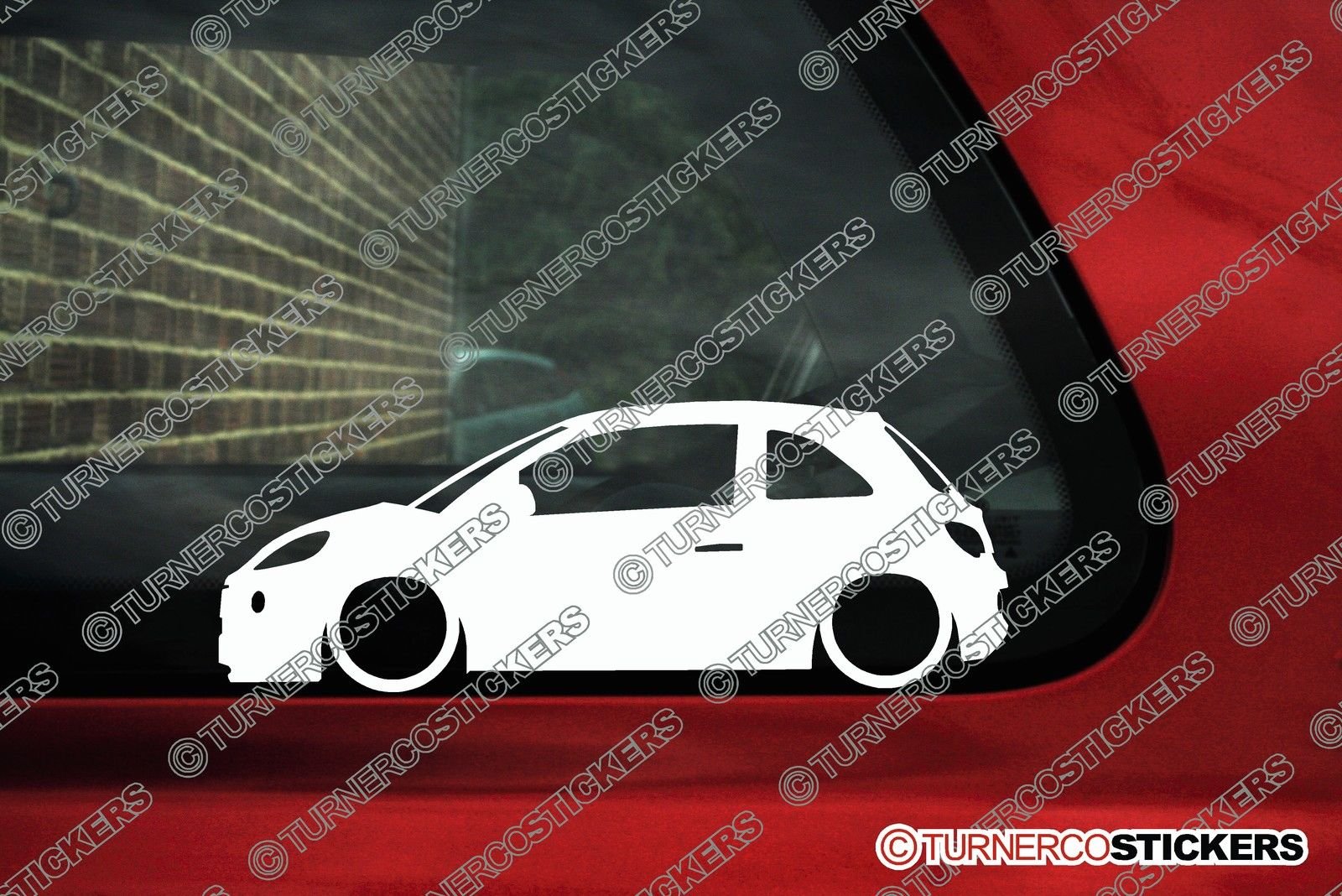2x Low Vauxhall Opel Adam Silhouette Stickers Decals