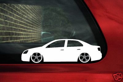 Vw Jetta Truck >> 2x LOW VW jetta mk5 TDi TFSi outline stickers fitted with ...
