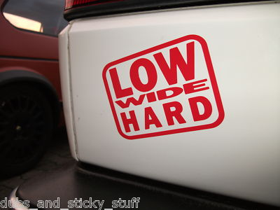 2x low wide hard for lowered low dub car truck van stickers decals
