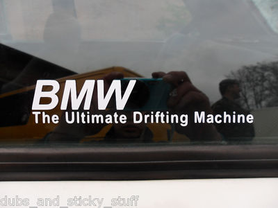 Bmw The Lltimate Drifting Machine Stickers For Bmw E46 M3