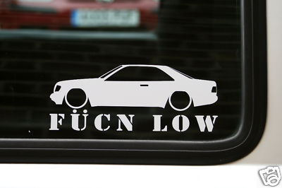 Mercedes W124 Coupe Fucn Low Sticker Decal For Mercedes