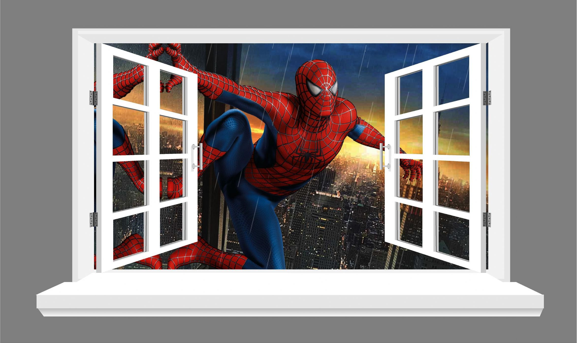Spiderman Wall Stickers Source