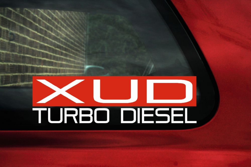 Xud turbo diesel sticker for peugeot 306 turbo d 405 grdt 406 2 1 td 309 gld