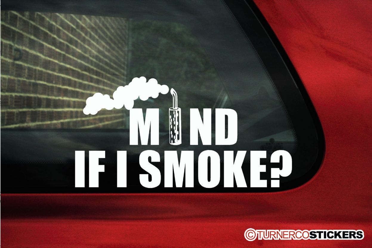 Mind if i smoke funny diesel powered offroad truck sticker