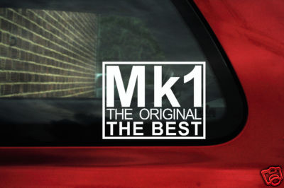 Mk1 The original the best sticker Decal.For Vw volkswagen Mk1 Golf GTi Jetta Polo rabbit