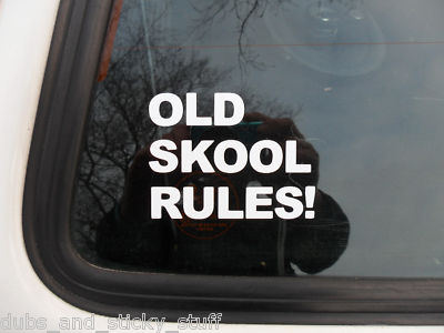 Old Skool Rules Sticker Decal For vw volkswagen golf GTi Jetta Mk2 Polo GTi
