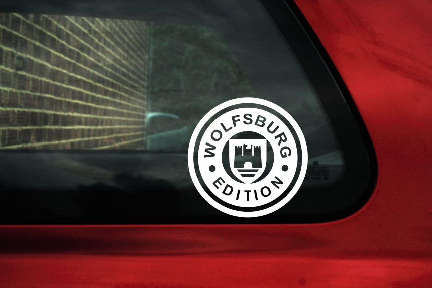 Wolfsburg Edition sticker Decal. Ideal For VW Golf Mk2 Mk1 ...