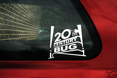 "2 x Aufkleber Sticker ""20th Century Bug"" Ideal Für VW Käfer 1.8t Cup"