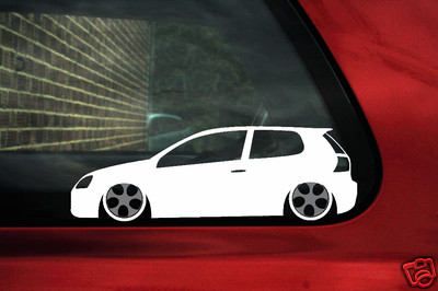 2 X Aufkleber Sticker Umriss Low F R Vw Golf Mk5 R32 Gti Tdi