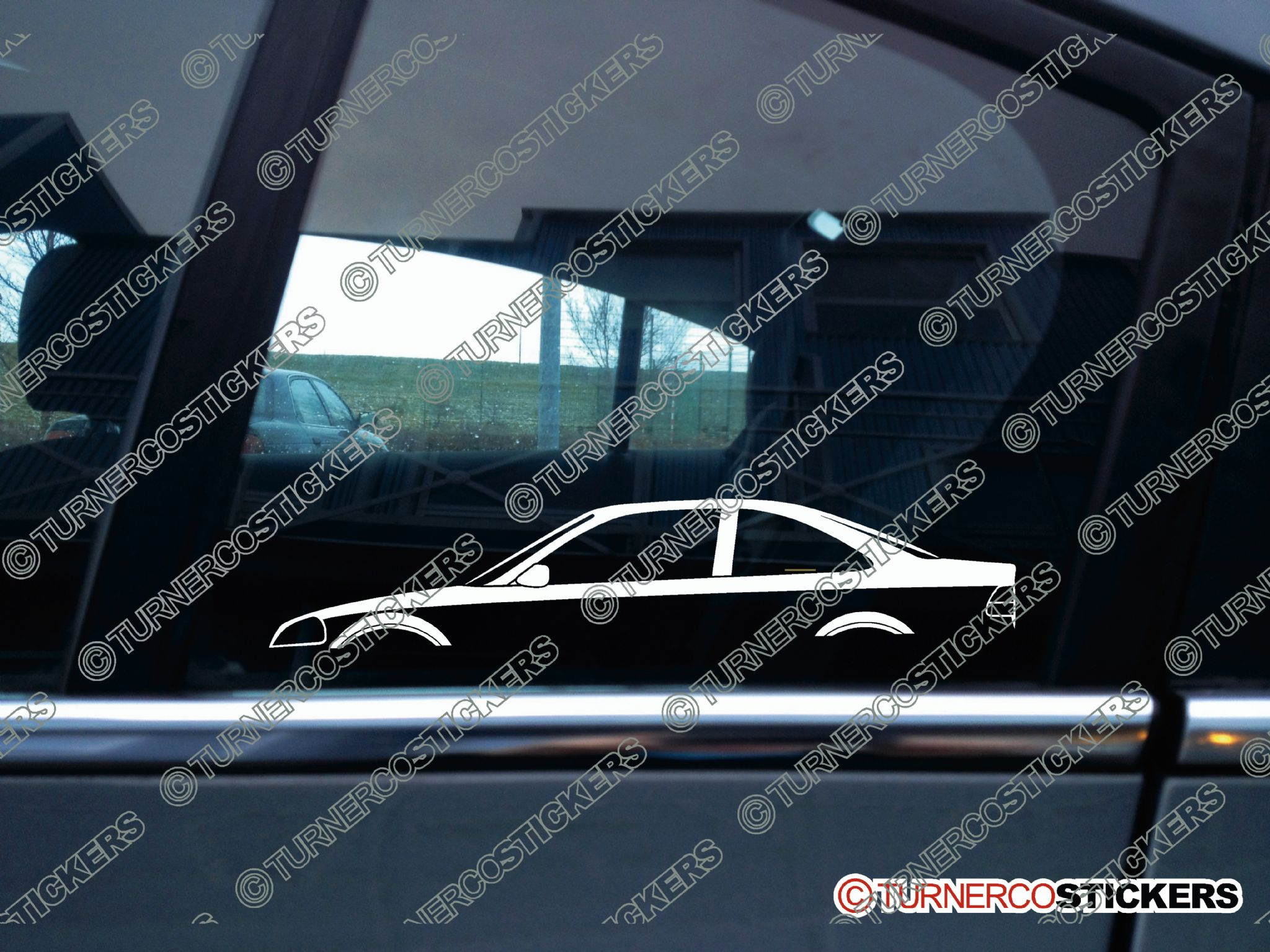 2x Car Silhouette Sticker Honda Civic Ek Coupe 1996 2000 6th Gen Jdm