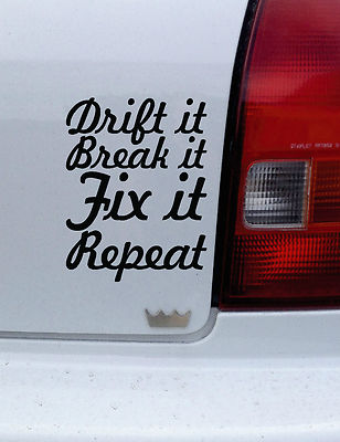 2x Drift It Break It Fix Jdm Drift Car Truck Van Funny