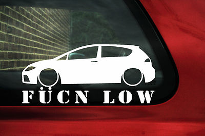 2x Leon Fukn Low Stickers For 1p Seat Leon Fr Tfsi Tdi