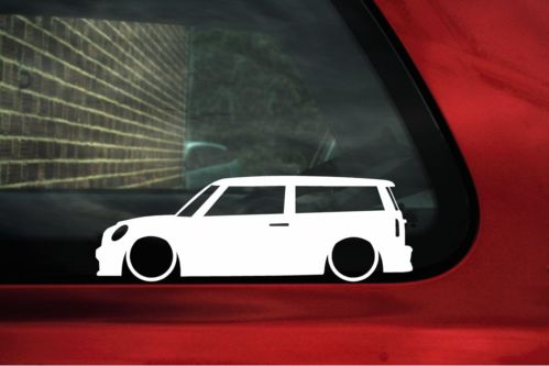 2x LOW BMW Mini R55 Cooper S Clubman Outline silhouette stickers, decals