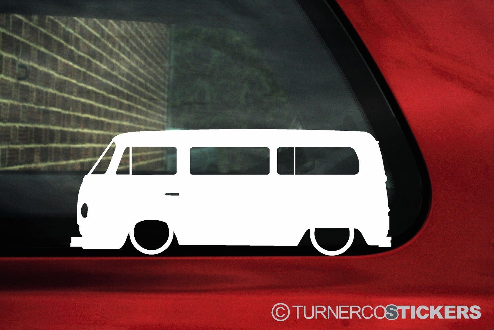 2x Low car outline stickers - for Volkswagen T2 ...