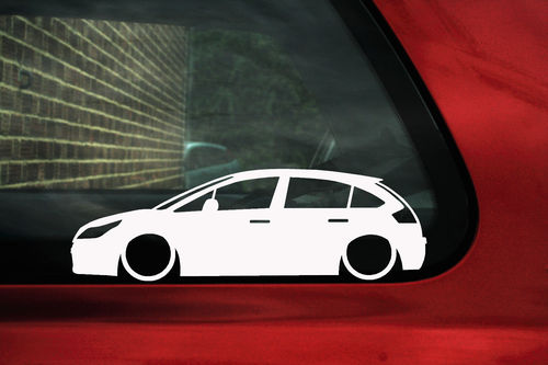 2x LOW Citroen C4 VTi / VTS 16v (1st Gen) 5-Door Hatch outline stickers /decals