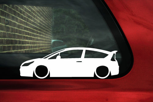 2x LOW Citroen C4 VTi / VTS 16v (1st Gen) Coupe outline stickers / decals