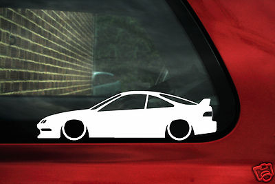X Low Honda Acura Integra Dc Type R Silhouette Outline Stickers Decals P
