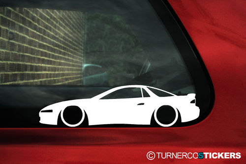 2x LOW Mitsubishi 3000GT / GTO VR4 outline Silhouette stickers,Decals
