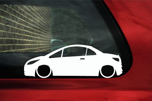 2x LOW Mitsubishi Colt CZC convertible outline Silhouette stickers,Decals
