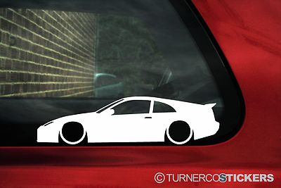2x Low Nissan 300zx Z32 Silhouette Car Outline Stickers Decals