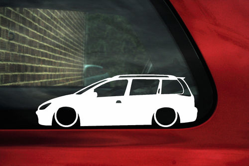 2x LOW Peugeot 206 SW HDi estate wagon outline stickers