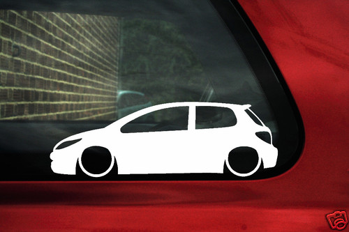 2x LOW Peugeot 307 HDi / 16v 180 outline stickers