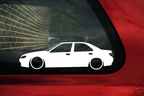 2x LOW Peugeot 406 Turbo, HDI,v6 outline stickers (1)