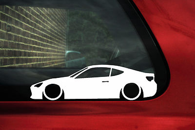 2x Low Toyota Gt86 86 Gt Gts Silhouette Outline Sticker