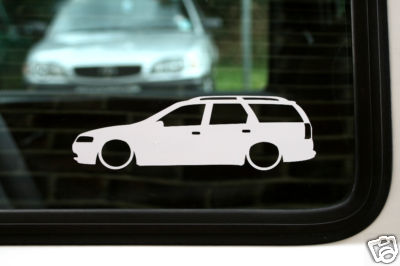 2x LOW Vauxhall / Opel Vectra B estate 2.5 v6 / 2.0 16v outline, Silhouette stickers, Decals
