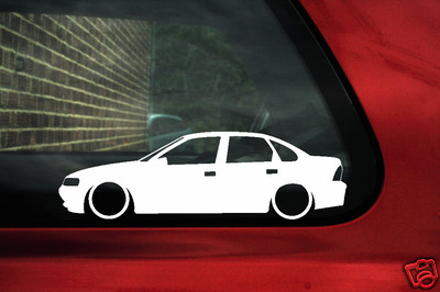 2x Low Vauxhall Vectra B Saloon V6 16v Outline Stickers