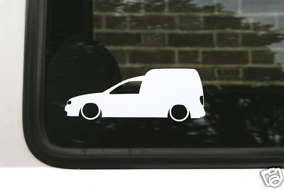 2x Low Vw Caddy 9k Mk2 Tdi Sdi Van Outline Silhouette