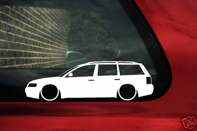 Audi 1 8 T >> 2x LOW VW Passat B5 estate wagon 1.8t 20v Turbo v5 outline silhouette stickers