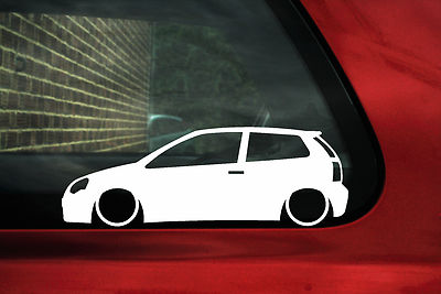 2x Low Vw Polo 9n3 Outline Sticker For Mk7 Gti