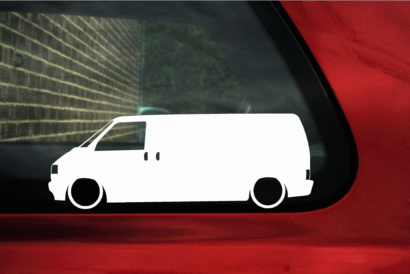 2x Low Vw T4 Transporter Tdi Van Outline Stickers Decals
