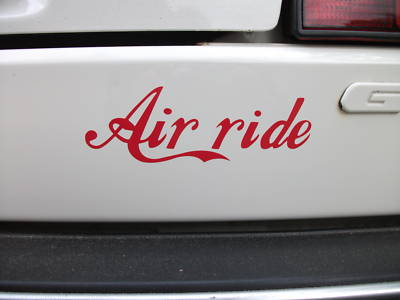 Air ride Sticker,ideal For vw golf, Passat, Polo, Lupo, Corrado,Scirocco dropped on air ride / bags