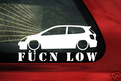 Civic Type R Fukn Low Sticker Decal For Honda Civic Ep