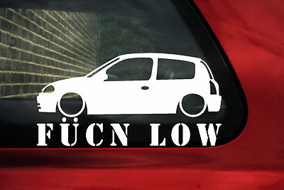 Clio Mk2 Pre Facelift Fukn Low Sticker Decal For Renault