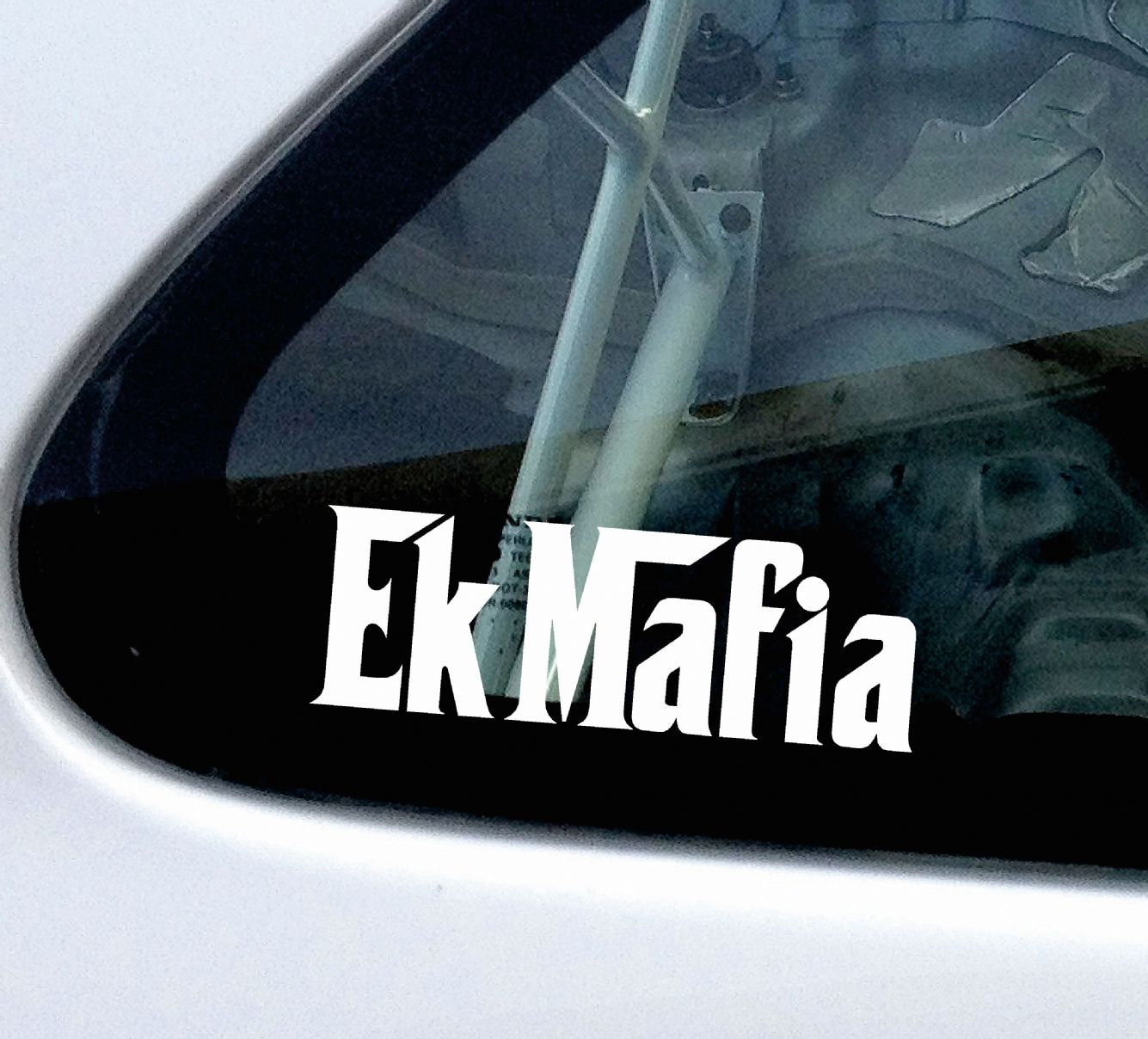 Ek mafia or custom test stickers decals for honda civic ek type r vti vtec si sir