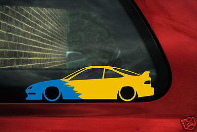 Honda Acura Integra DC2 Spoon type-R Silhouette outline sticker Decal
