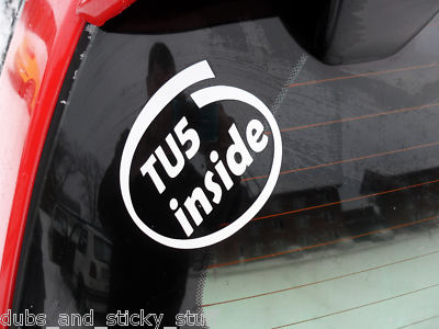 TU5 inside sticker,For Citroen C2 VTS,Peugeot 106 GTi