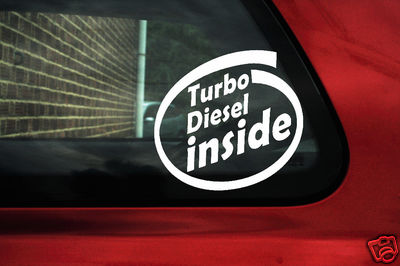 Turbo Diesel inside sticker ,Decal.For vw,volkswagen TDi passat B4, B5/ Polo, 6n2,9n/Golf Mk4 / bora