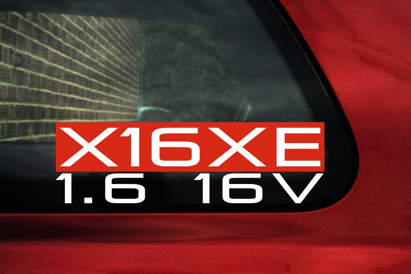 X16xe 1 6 16v Sticker For Vauxhall Opel Corsa B Sport 1 6